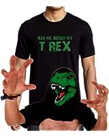 Ask Me About My T-Rex T-Shirt Funny Flip Up T Rex Shirt XS-3XL