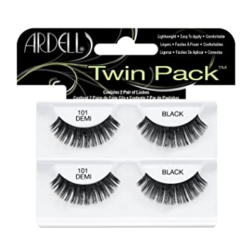 11c519edc1d Amazon.com : Ardell Twin Pack, 101 Demi Black, (Pack of 1) : Beauty
