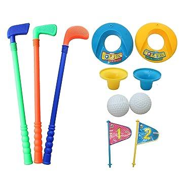 Juego de Golf para Niños - 3 clubes, 2 hoyos set 2 pelotas ...