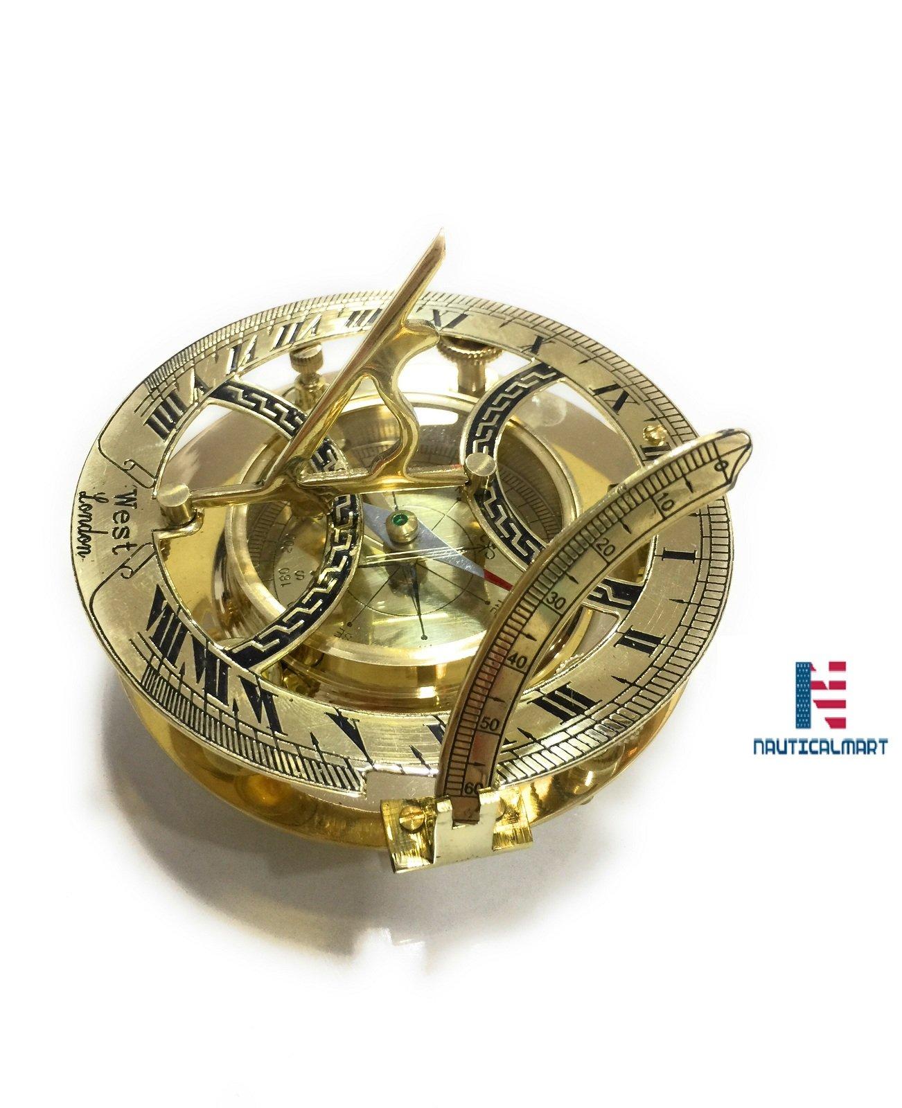 CZ3388A Brass Sundial Compass 5'' - Case Pack f 16