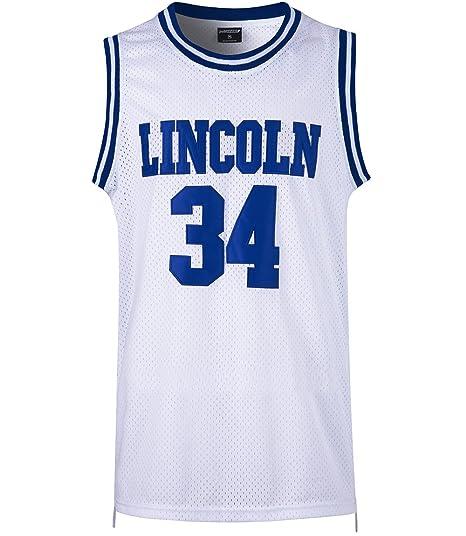 f97b7e84666 JOLISPORT Men s Basketball Jersey Jesus Shuttlesworth 34 Lincoln High  School Basketball Jersey S-XXXL White