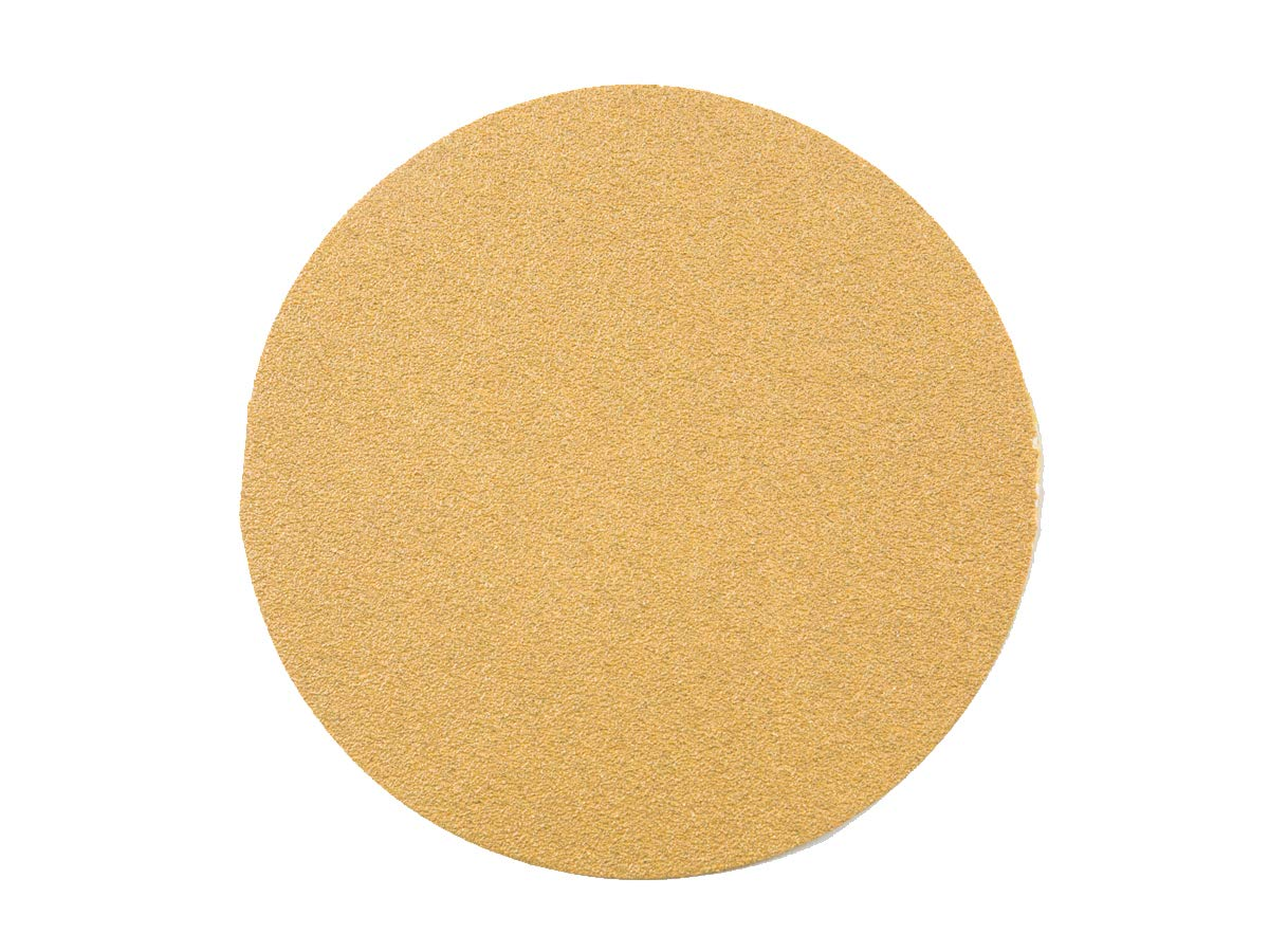 100 Pack 100 Grit 5 Inch Discs On a Roll PSA Gold Sticky Back DA Sanding Paper