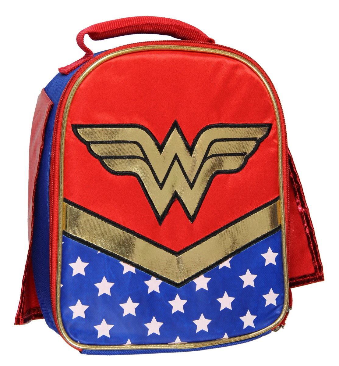 DC Wonder Woman Lunch Box Soft Kit Insulated Cooler Bag With Cape Accessory Innovations