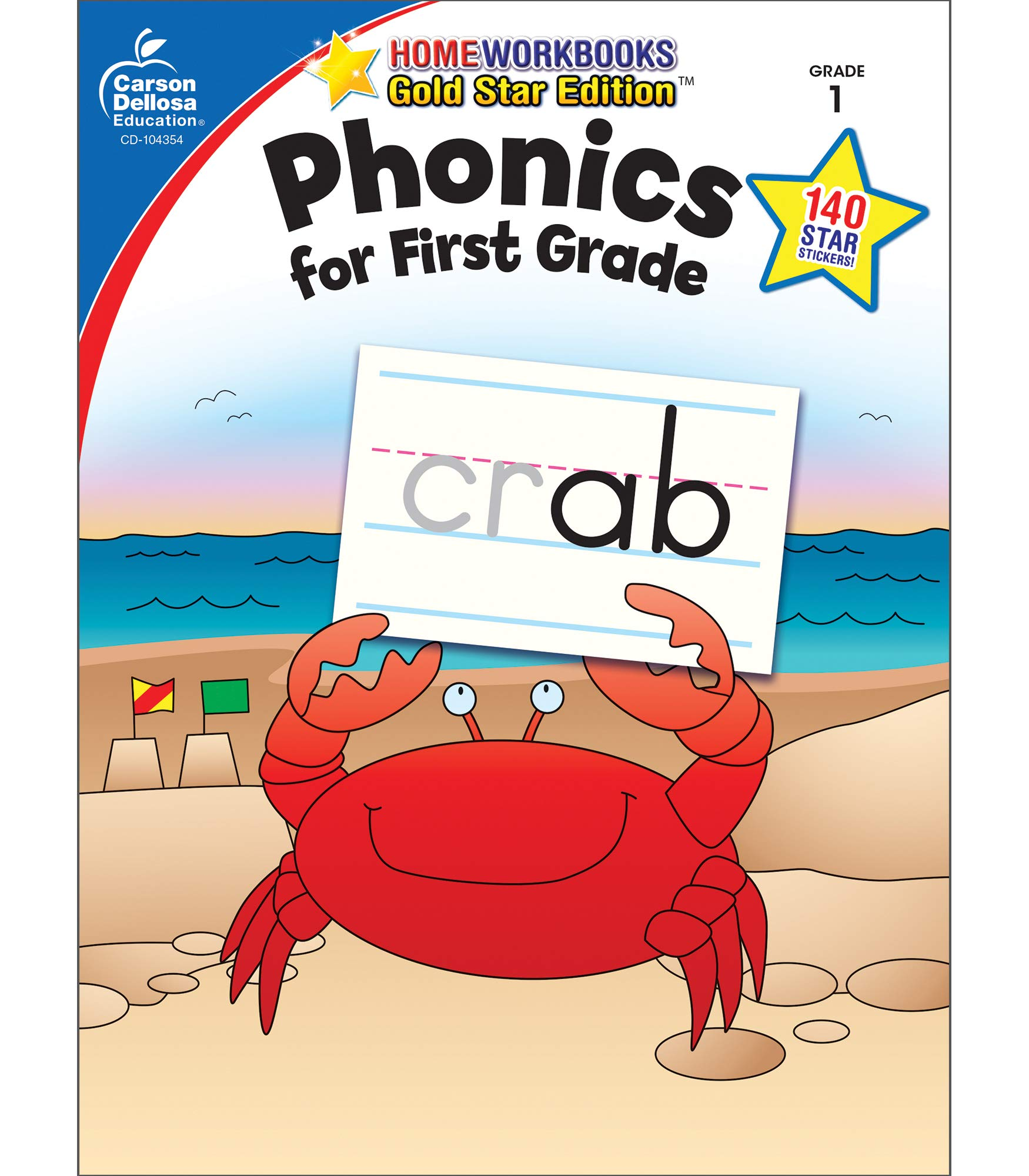 photograph about Home and Family Christmas Workbook referred to as Phonics for To start with Quality, Quality 1: Gold Star Variation (Household