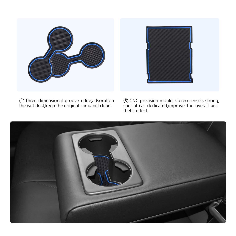 RUIYA Mazda CX-30 Antirutschmatten Braun Auto Innere T/ürschlitz Arm Box Aufbewahrung Matten Pads