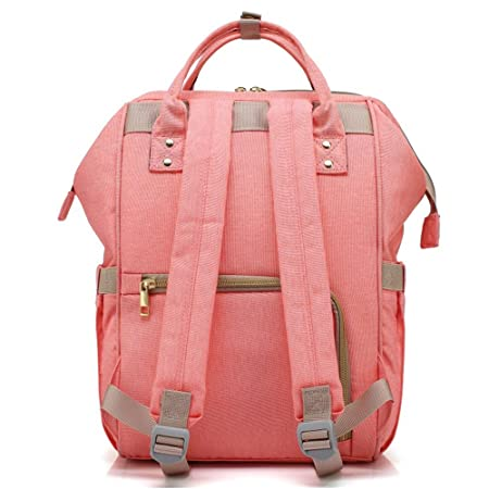 pink Baby Wickelrucksack Multifunktional mit Kinderwagen Haken L/ätzchen Mama