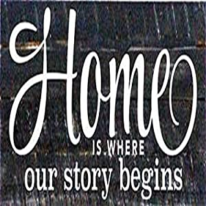 Artistic Reflections Pallet Art RE1077b Home is Where Our Story Begins, 14