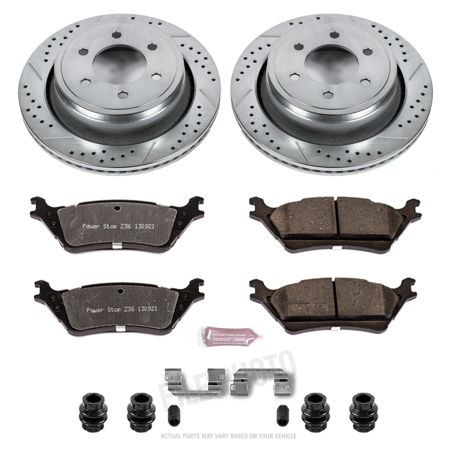 Power Stop K6271-36 Z36 Truck /& Tow Rear Brake Kit