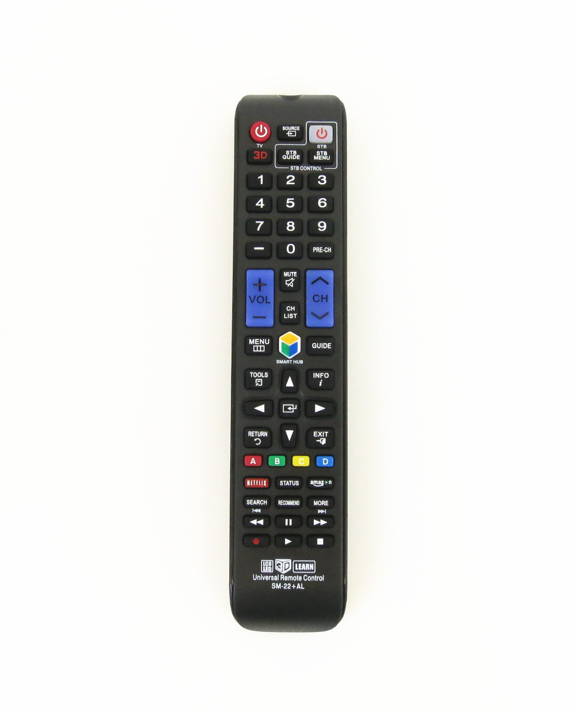 Gvirtue Universal Remote Control Compatible Replacement for Samsung TV/3D/LCD/LED/HDTV/Smart TV, AA59-00666A BN59-01178W BN59-01199F AA59-00638A AA59-00637A AA59-00594A AA59-00600A AA59-00582A