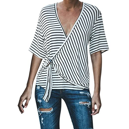 37fb7e876639 Star wuvi Womens Blouses Women Casual Long Sleeve Button Front Shirt Turn  Down Collar Tops with Pockets. Roll over image to ...