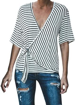 Camiseta Mujer Manga Corta Casual, EUZeo, Verano Camisas ...