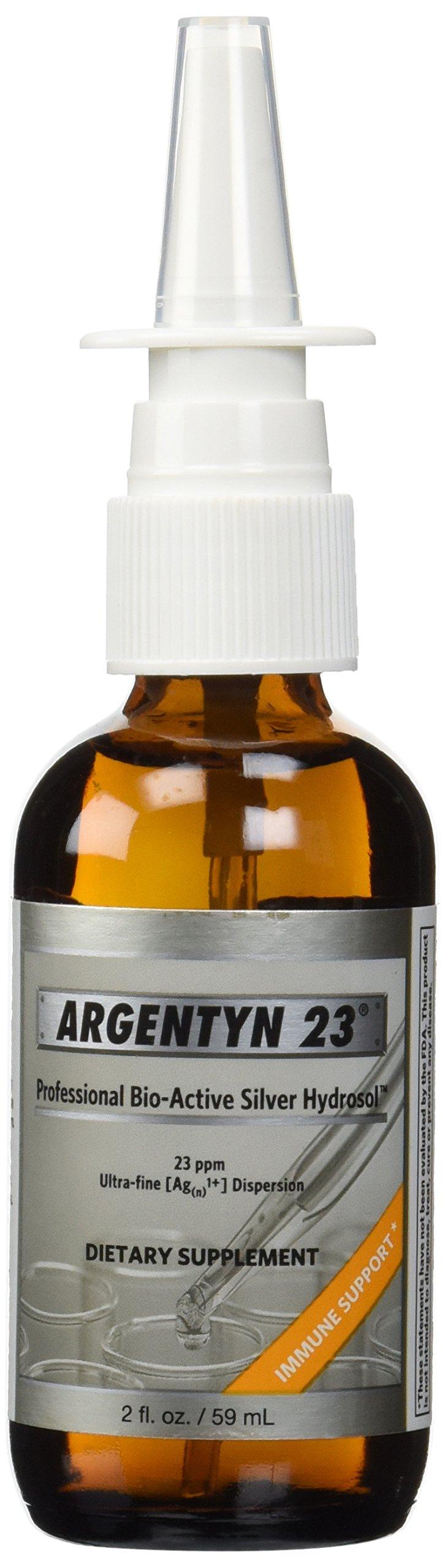 Argentyn 23 Professional Bioactive Silver Hydrosol 23 PPM Vertical Spray, 2 Ounce