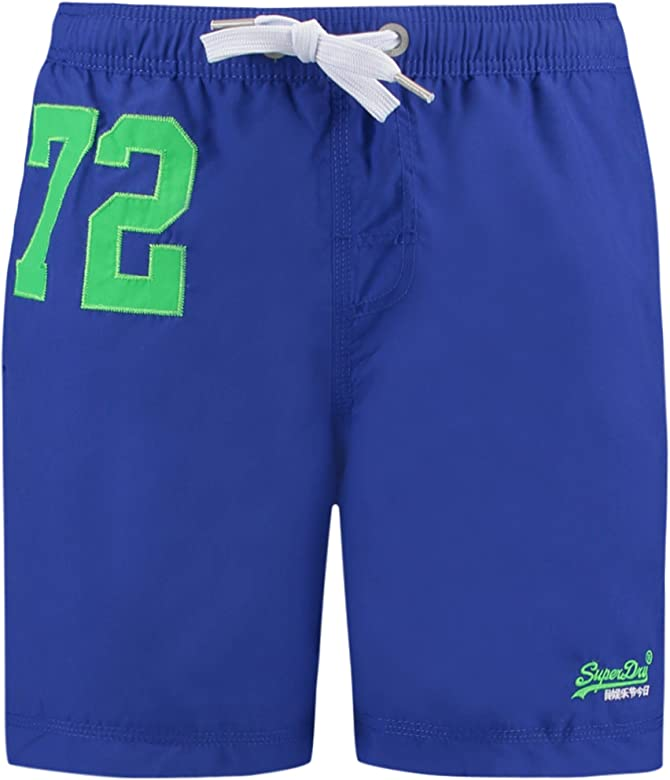 Superdry Hombre Logo Swimshorts Premium Water Polo, Azul, Small ...