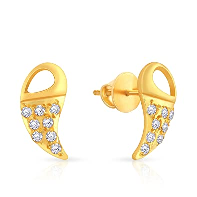 8f320aab5 Buy Malabar Gold and Diamonds 22k Yellow Gold and Cubic Zirconia Stud  Earrings Online at Low Prices in India | Amazon Jewellery Store - Amazon.in