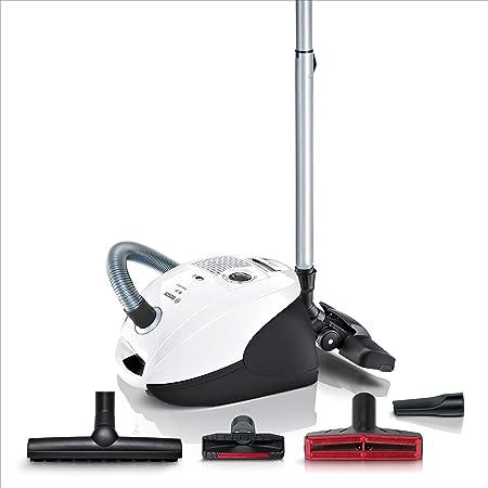 Bosch, – Aspiradora con Bolsa, bsgl3 a340, eficiencia energética A, Incluye Boquilla para Suelo Duro, XXL Boquilla para tapicería, Ultr anguilas lergy Filtro, Color Blanco: Amazon.es: Hogar