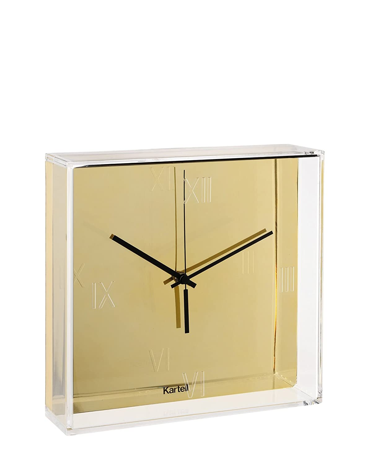 amazoncom kartell tictac clock by philippe starck with eugeni  - amazoncom kartell tictac clock by philippe starck with eugeni quitlletmetallic chrome home  kitchen
