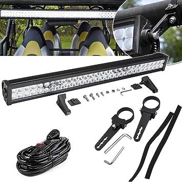 Wire Kit 20/'/' LED Light Bar FOR Cat ATV UTV Quad 4 Wheeler w//2x Led Pods