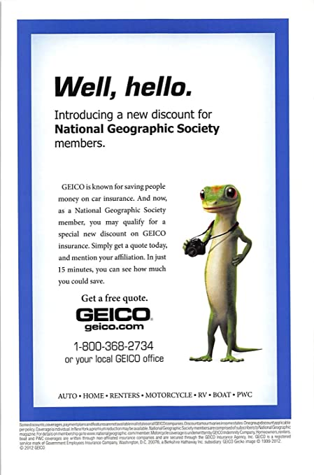 Amazoncom Print Ad 2012 Geico Is Known For Saving People Maney On
