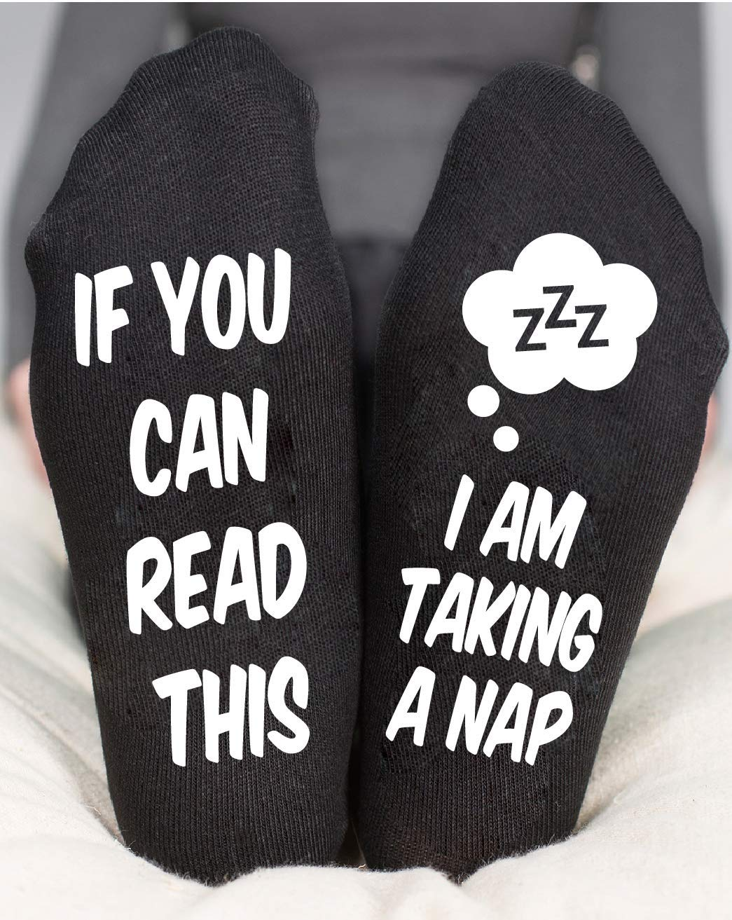 If You Can Read This I Am Taking A Nap Socks Funny Gift