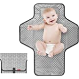 Portable Changing Pad for Baby|Travel Baby Changing Pads for Moms, Dads|Waterproof Portable Changing Mat with Built-in Pillow