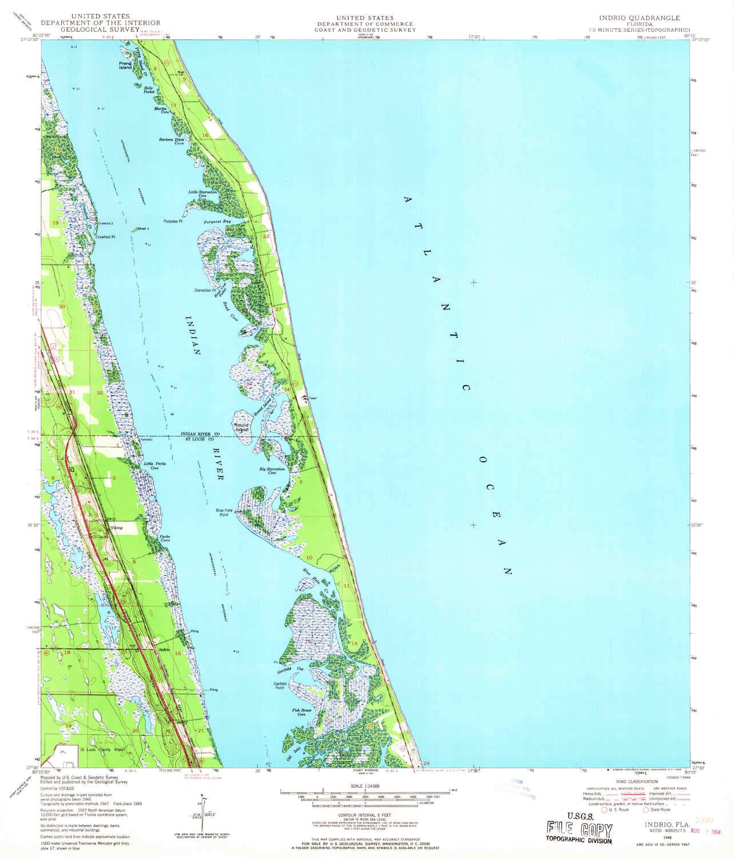 Amazon.com : YellowMaps Indrio FL topo map, 1:24000 Scale, 7.5 X 7.5 ...