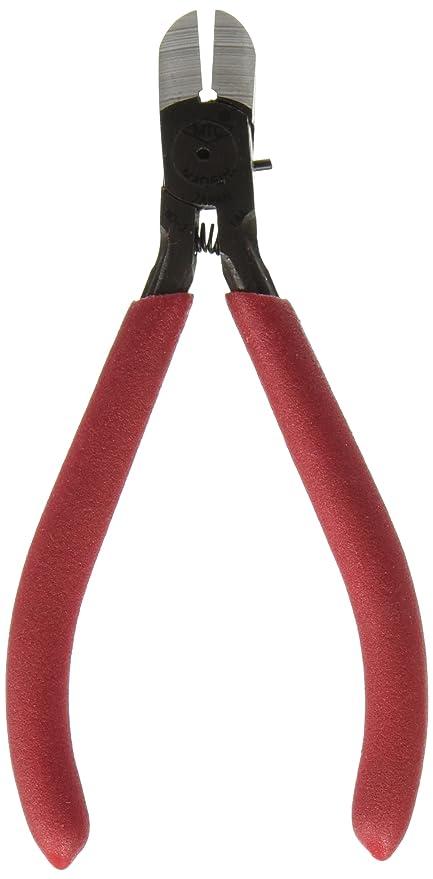 Rojo empuñadura de goma plano hoja cortador de Cable alicates de corte Diagonal 125 mm larga