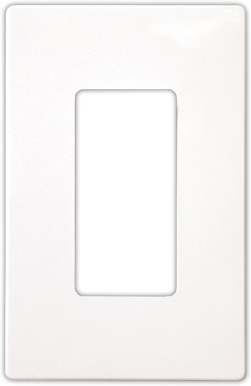 EATON PJS263W Arrow Hart Pjs263 Decorative Screw less Wall Plate 3 Gang 4-1//2 In L X 6.37 In W X 0.08 In T White