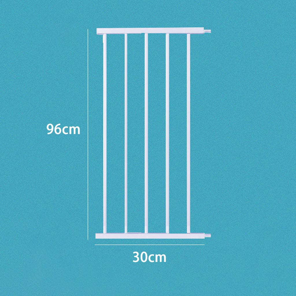 Size : 7cm Extensions HUYP Safety Gate for Children 96CM High Stair Pet Dog Fence Extensions Safety Barrier White 75-82cm