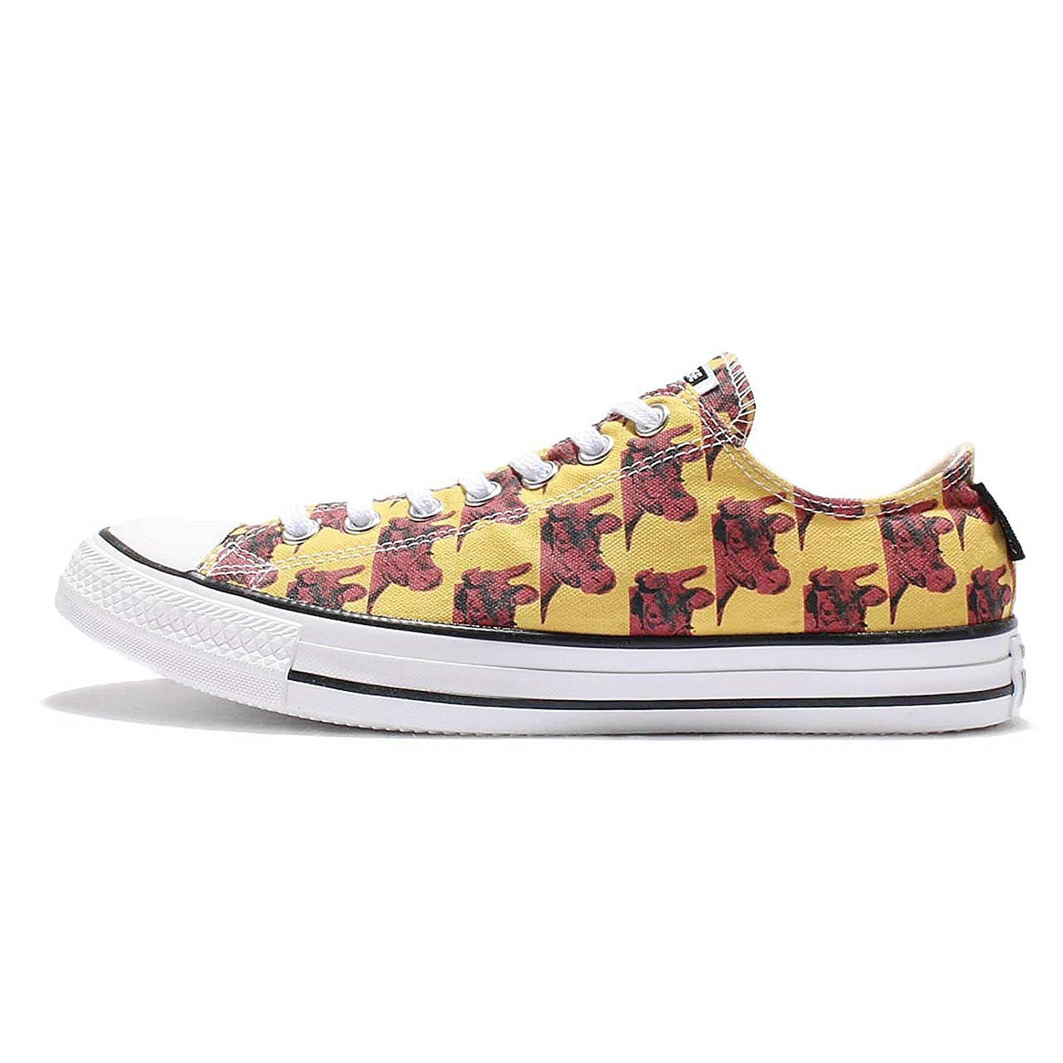 Converse Andy Warhol Banana Leather Ox Sneakers B00YFYOR42 12 M US|days ahead red/black reflective