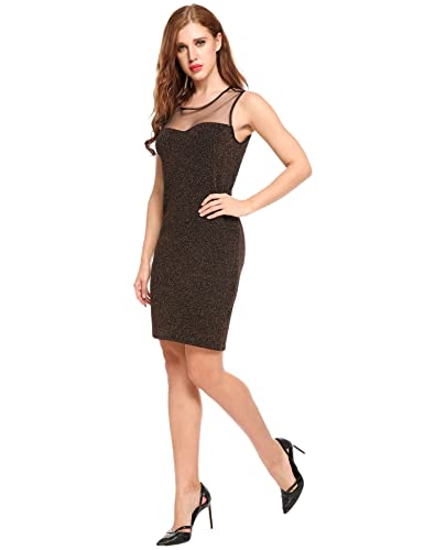 HOTOUCH Women sleeveless Sequins Sparkle Tank Party Club Bodycon Dress