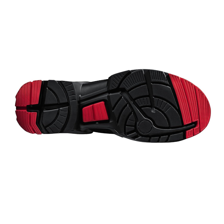Uvex - Zapato de seguridad / zapato de trabajo One 8516 S3 - ancho 11 - varias tallas - negro/rojo, EU 47