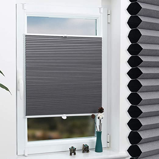 Wabenplissee Plissee weiß 110x140cm blickdicht Rollo Klemmfix Jalousie Fenster