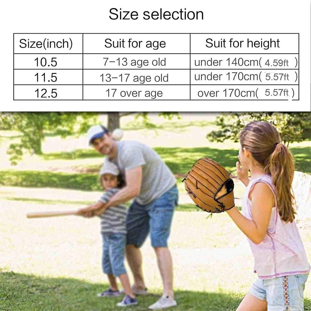 Durable Cuir Pichet Pichet /épaississant Gant de Baseball Softball des Gants pour Adulte Jeunesse Enfants pour Recueillir Souple /à Gauche /à la Main GFEU Gant de Baseball