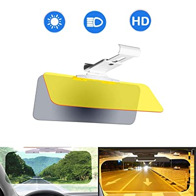 Evanno Car Sun Visor Extender for Car Night Visor for Driving | 2 in 1 Car Anti-Glare Visor for Day & Night Driving | Anti-Dazzle Driving Sunvisor, UV-Filtering Eye Protector: Automotive