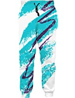 Leapparel Men's Unisex 3D printed Casual Gym sports Jogger Pants with DrawString Galaxy Graphric Baggy Sweatpants