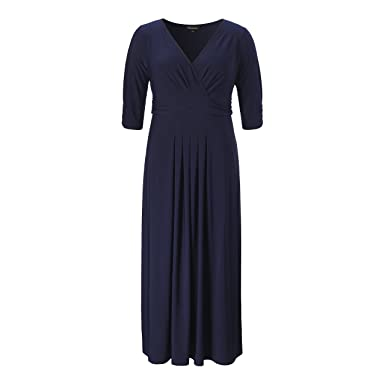 1ce20057ecc Chicwe Women s Plus Size Stretch Glamour Solid Maxi Dress with Gathering - Casual  Party Cocktail Dress