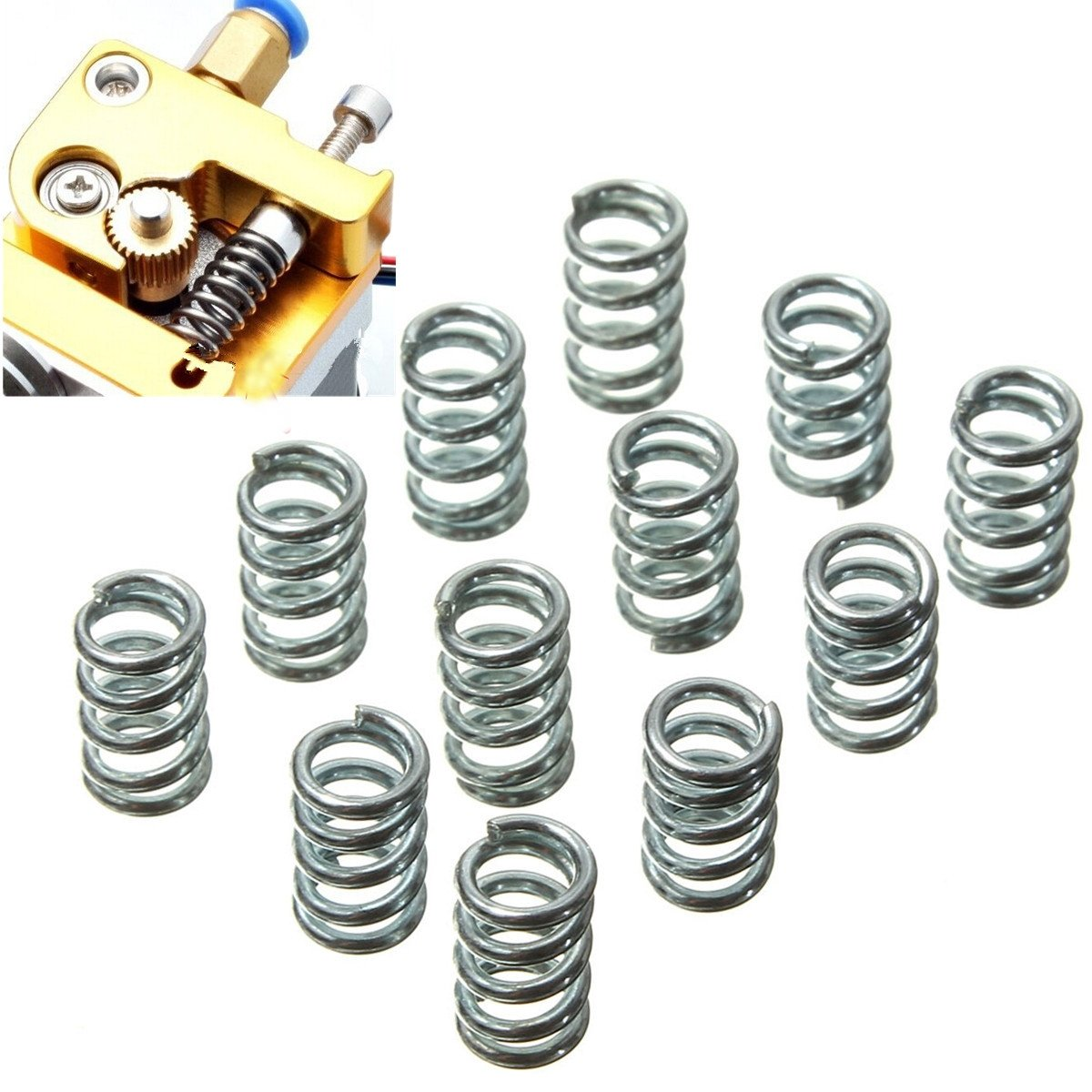 Ils  –   12  Leveling Extruder Springs for 3D Printer