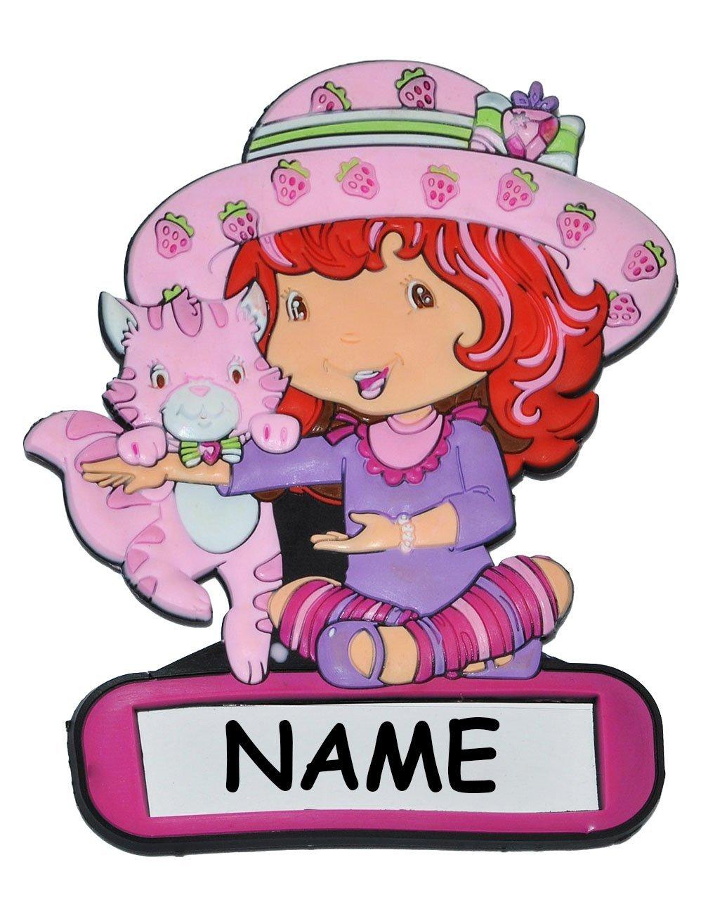Türschild / Namensschild - Emily Erdbeer mit Namen - Kinderzimmer ...