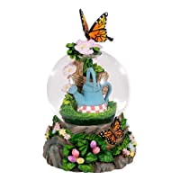 Butterfly 100MM Resin Stone 3D Musical Water Globe Plays Tune In the Garden