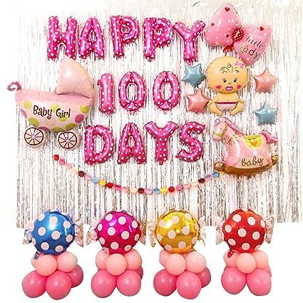 Amazon.com: riverbyland Colorful 100 días Cumpleaños de ...