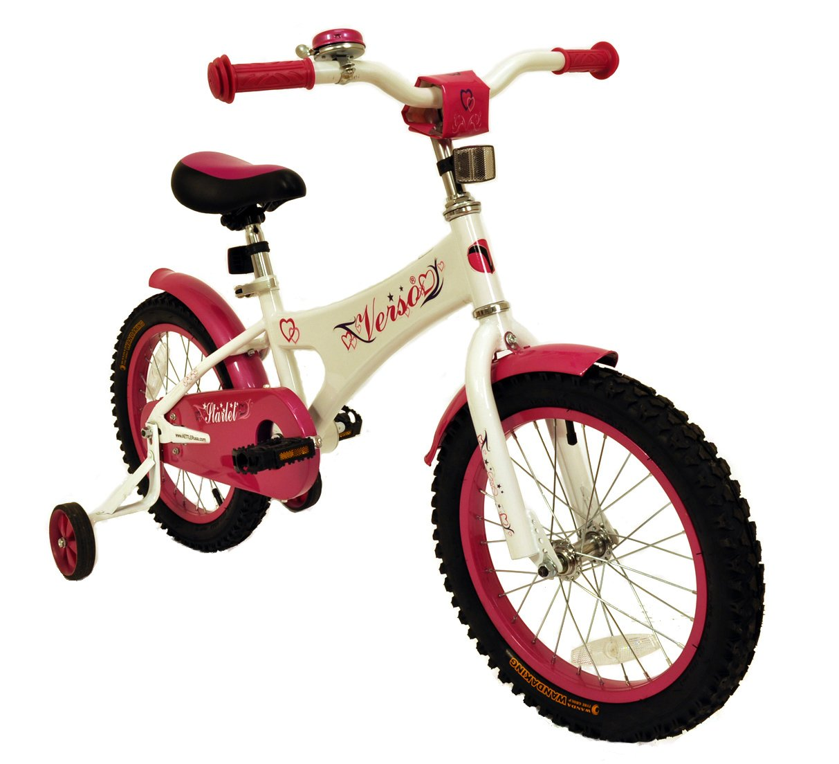 Verso by Kettler 16'' Bike with Removable Training Wheels: Starlet (Rose Pink), Youth Ages 4 to 7 by Kettler