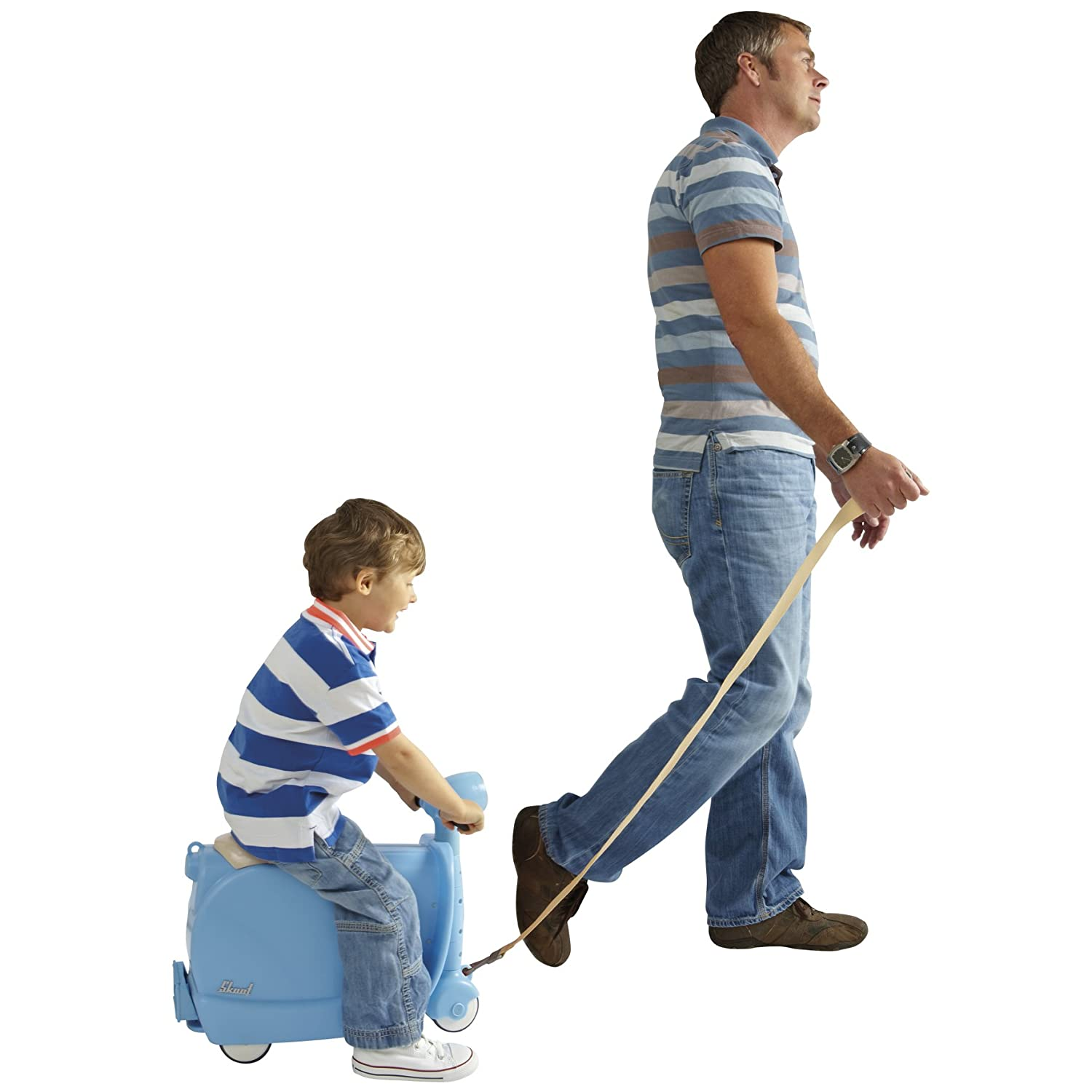 Amazon.com: Blue Skoot Ride One Suitcase: Toys & Games