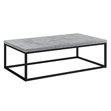 En Casa Modern Coffee Table Mdf Chipboard Concrete Effect