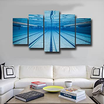 Amazon.com: 5 Piece Canvas Print Contemporary Art, Swimming ...