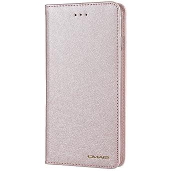 HARRMS iPhone 6, iPhone 6s Handyhülle Handytasche mit Geldbörse mit Kredit Karten Fach Geldklammer Leder Hülle Handyfach Magn
