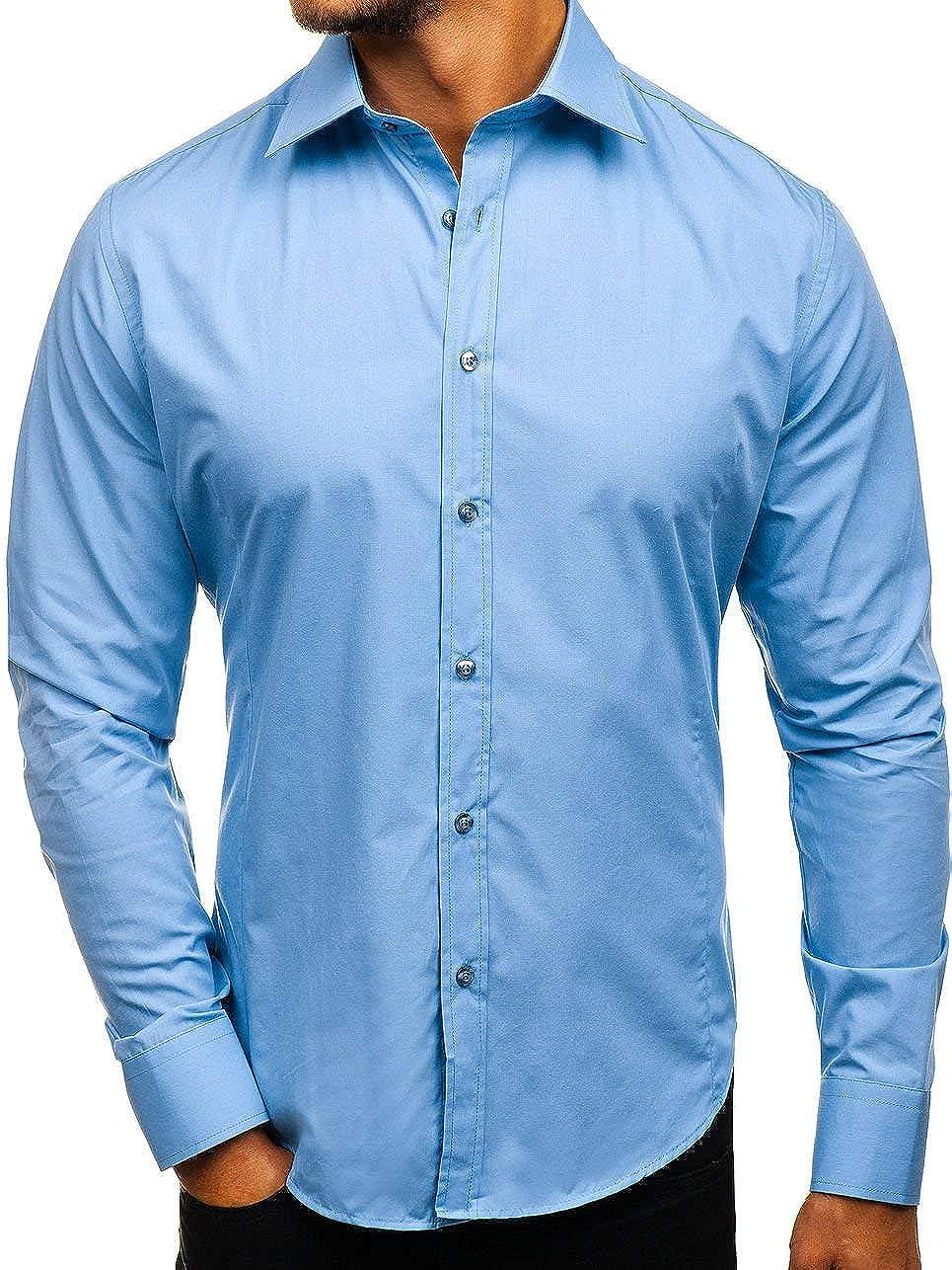 BOLF Herren Hemd Langarm Basic Slim Fit Elegant Business Style 2B2 BOLF 1721 216539060a