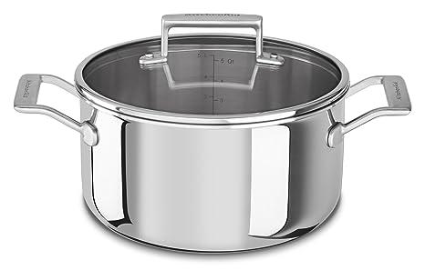 Amazon.com: KitchenAid kc2t60lcst Tri-Ply 6 Quart Cacerola ...