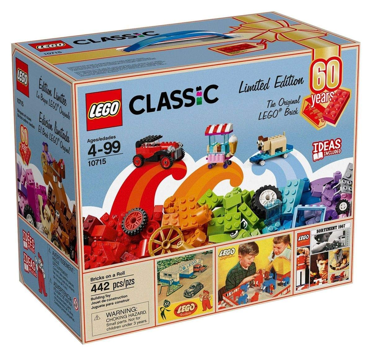 Limited Roll Pieces 442 10715 60th Classic Bricks Lego Anniversary Edition Exclusive A On POkiuTZX