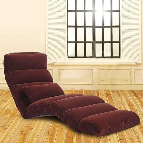 ACLUXS Relaxing Sofa Bean Bag Folding Chair Futon Lounge Brown