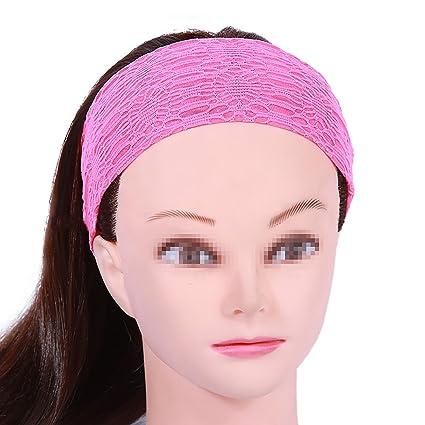 Funyye Stylish Headbands Turban Wide Head Band Solid Color Lace Design Boho  Yoga Style Soft Hairband da72a78fd1a